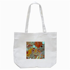 Liquid Bubbles Tote Bag (white)