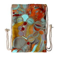 Liquid Bubbles Drawstring Bag (large)