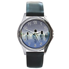 Abstract Gates Doors Stars Round Metal Watch