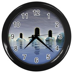 Abstract Gates Doors Stars Wall Clocks (Black)