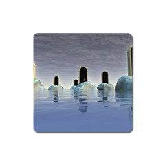 Abstract Gates Doors Stars Square Magnet