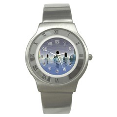 Abstract Gates Doors Stars Stainless Steel Watch