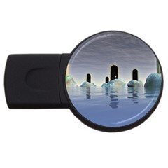 Abstract Gates Doors Stars USB Flash Drive Round (4 GB)