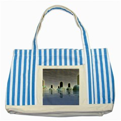 Abstract Gates Doors Stars Striped Blue Tote Bag