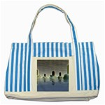 Abstract Gates Doors Stars Striped Blue Tote Bag Front