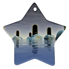 Abstract Gates Doors Stars Star Ornament (two Sides)