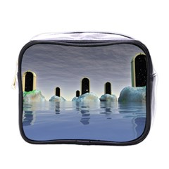 Abstract Gates Doors Stars Mini Toiletries Bags