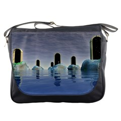 Abstract Gates Doors Stars Messenger Bags
