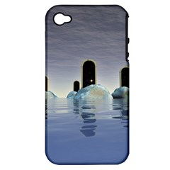 Abstract Gates Doors Stars Apple Iphone 4/4s Hardshell Case (pc+silicone)