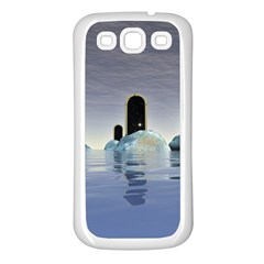 Abstract Gates Doors Stars Samsung Galaxy S3 Back Case (White)