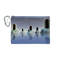 Abstract Gates Doors Stars Canvas Cosmetic Bag (M)
