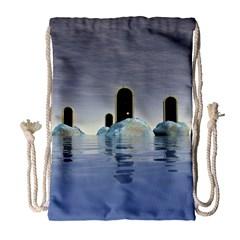 Abstract Gates Doors Stars Drawstring Bag (Large)