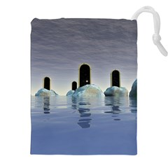 Abstract Gates Doors Stars Drawstring Pouches (xxl)