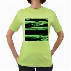 Texture Fractal Frax Hd Mathematics Women s Green T Shirt