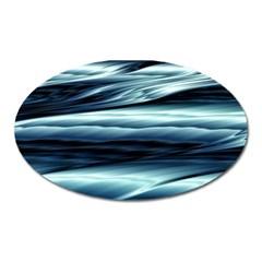 Texture Fractal Frax Hd Mathematics Oval Magnet