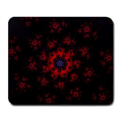 Fractal Abstract Blossom Bloom Red Large Mousepads