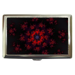Fractal Abstract Blossom Bloom Red Cigarette Money Cases
