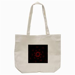 Fractal Abstract Blossom Bloom Red Tote Bag (cream)