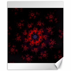 Fractal Abstract Blossom Bloom Red Canvas 16  x 20