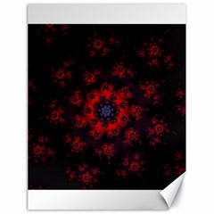 Fractal Abstract Blossom Bloom Red Canvas 18  x 24