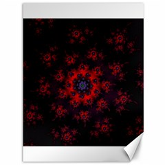 Fractal Abstract Blossom Bloom Red Canvas 36  X 48