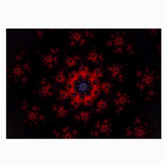 Fractal Abstract Blossom Bloom Red Large Glasses Cloth
