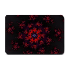 Fractal Abstract Blossom Bloom Red Small Doormat