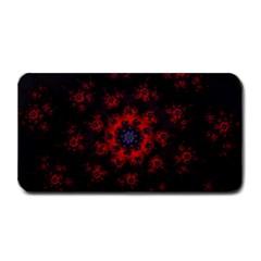 Fractal Abstract Blossom Bloom Red Medium Bar Mats