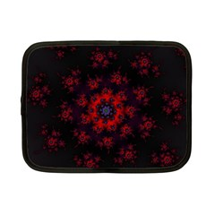 Fractal Abstract Blossom Bloom Red Netbook Case (Small)