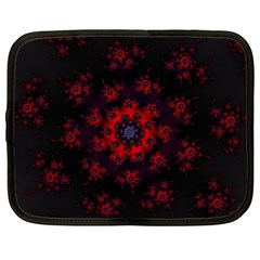 Fractal Abstract Blossom Bloom Red Netbook Case (Large)