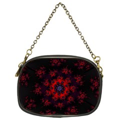 Fractal Abstract Blossom Bloom Red Chain Purses (one Side)