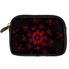 Fractal Abstract Blossom Bloom Red Digital Camera Cases
