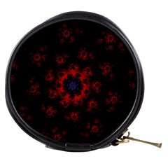 Fractal Abstract Blossom Bloom Red Mini Makeup Bags