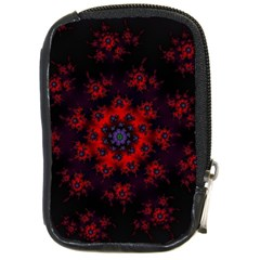 Fractal Abstract Blossom Bloom Red Compact Camera Cases