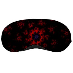 Fractal Abstract Blossom Bloom Red Sleeping Masks