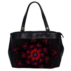 Fractal Abstract Blossom Bloom Red Office Handbags (2 Sides)