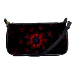 Fractal Abstract Blossom Bloom Red Shoulder Clutch Bags