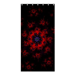 Fractal Abstract Blossom Bloom Red Shower Curtain 36  x 72  (Stall)