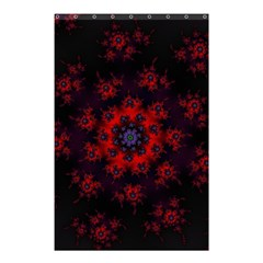 Fractal Abstract Blossom Bloom Red Shower Curtain 48  x 72  (Small)
