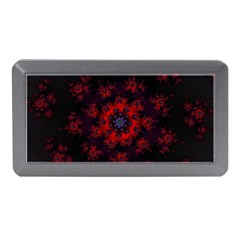 Fractal Abstract Blossom Bloom Red Memory Card Reader (Mini)