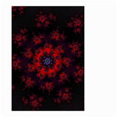 Fractal Abstract Blossom Bloom Red Small Garden Flag (two Sides)