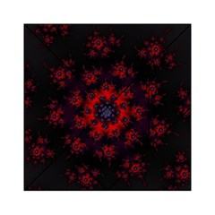Fractal Abstract Blossom Bloom Red Acrylic Tangram Puzzle (6  X 6 )