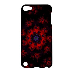 Fractal Abstract Blossom Bloom Red Apple Ipod Touch 5 Hardshell Case