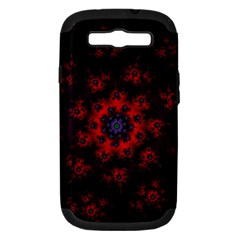 Fractal Abstract Blossom Bloom Red Samsung Galaxy S Iii Hardshell Case (pc+silicone)