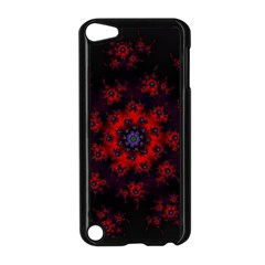 Fractal Abstract Blossom Bloom Red Apple Ipod Touch 5 Case (black)