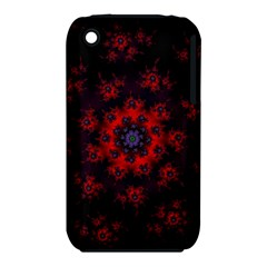 Fractal Abstract Blossom Bloom Red iPhone 3S/3GS