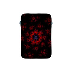 Fractal Abstract Blossom Bloom Red Apple Ipad Mini Protective Soft Cases