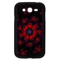 Fractal Abstract Blossom Bloom Red Samsung Galaxy Grand DUOS I9082 Case (Black)
