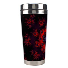 Fractal Abstract Blossom Bloom Red Stainless Steel Travel Tumblers