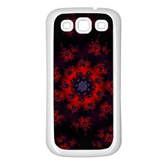 Fractal Abstract Blossom Bloom Red Samsung Galaxy S3 Back Case (white)